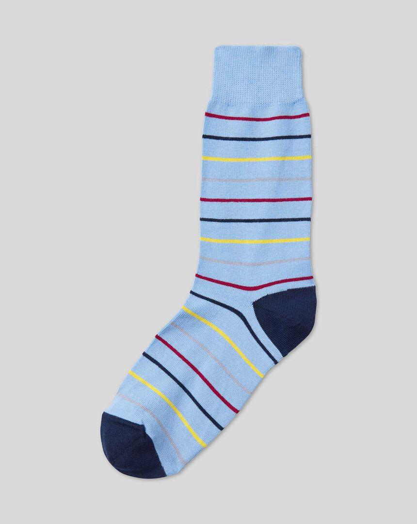 Multi Stripe Socks - Sky Multi