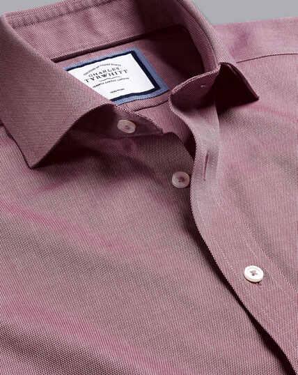 Cutaway Collar Non-Iron Regent Weave Shirt - Berry