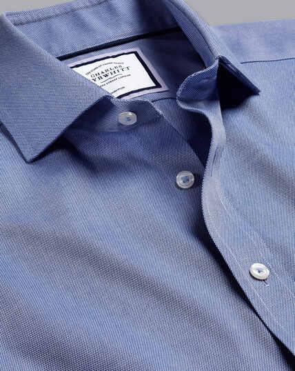 Bügelfreies Regency-Hemd mit Haifischkragen - Königsblau
