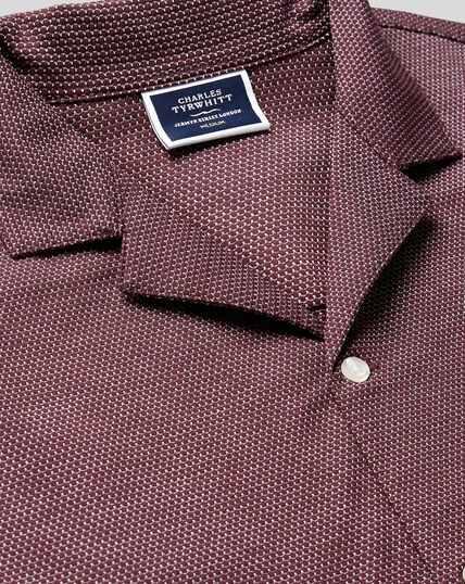Tyrwhitt Cool Resort Collar Polo - Wine