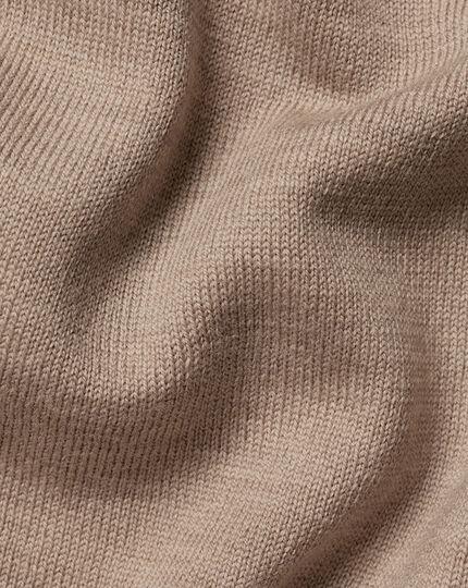 Merino V-Neck Sweater - Oatmeal