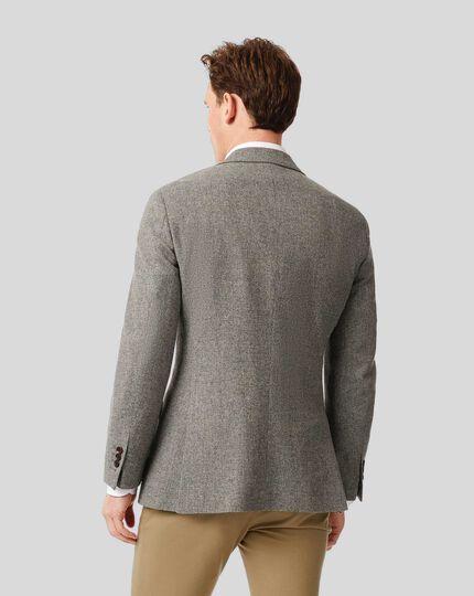 Textured Wool Jacket - Light Grey