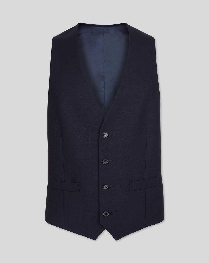 Twill Business Suit Waistcoat - Navy