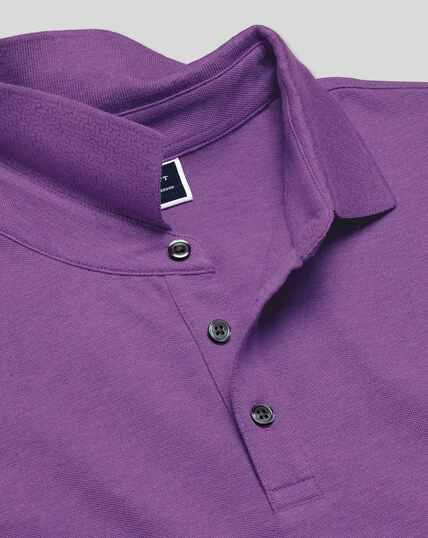 Tyrwhitt Pique Polo - Purple Marl