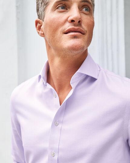 Cutaway Collar Non-Iron Ludgate Weave Shirt - Lilac