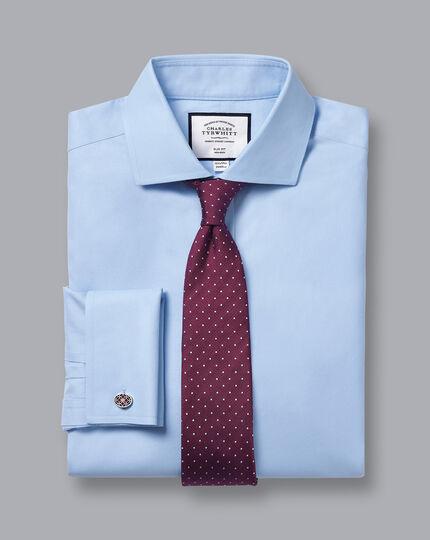 Spread Collar Non-Iron Twill Shirt - Sky Blue
