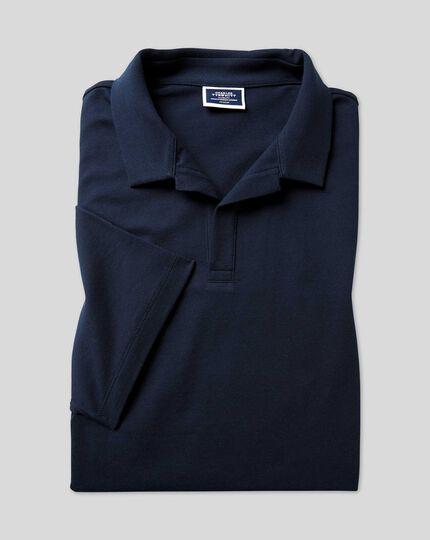 Tyrwhitt Piqué-Polo mit Resortkragen - Marineblau