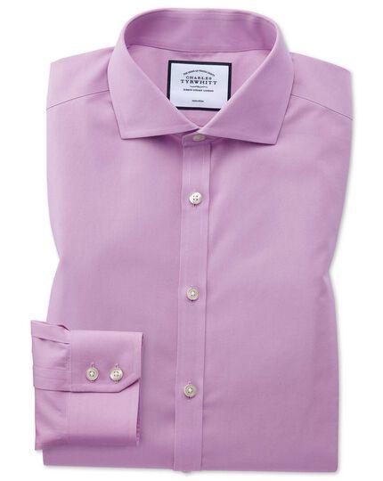 Non-Iron Poplin Spread Collar Shirt - Violet