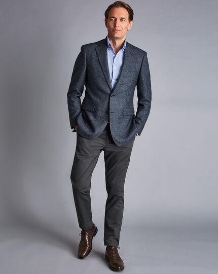 Textured Wool Jacket - Denim Blue