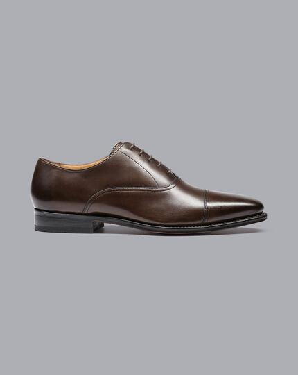 Goodyear-rahmengenähte Oxford-Schuhe mit Zehenkappe - Schokoladenbraun
