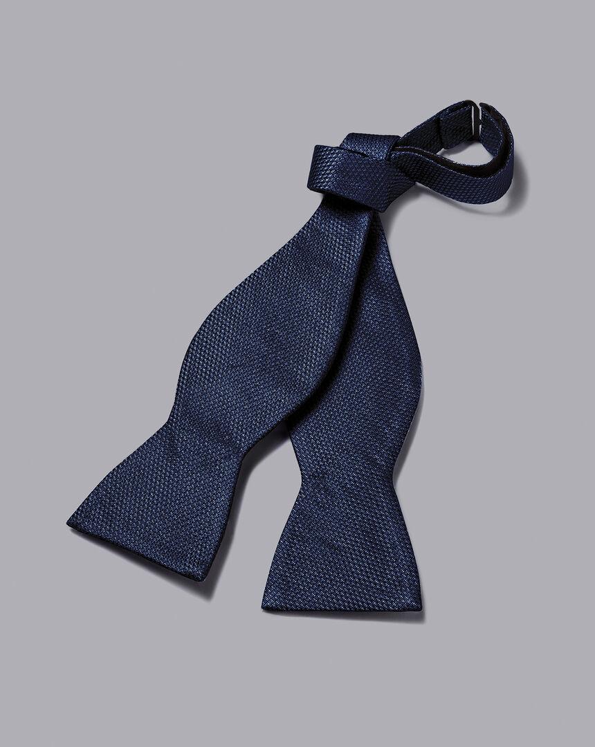 Silk Self-Tie Bow Tie - Navy