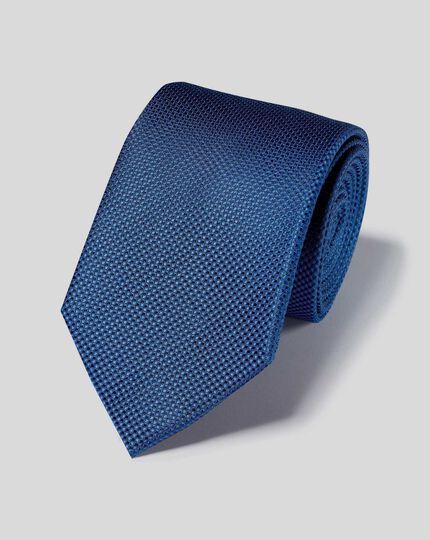 Schmutzabweisende Krawatte aus Seide mit Strukturgewebe - Königsblau