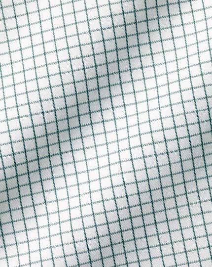 Bügelfreies Twill-Hemd mit Minikaros - Grün