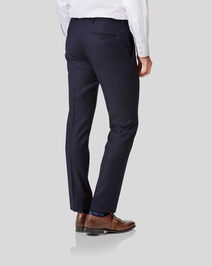 Twill Business Suit Pants - Navy