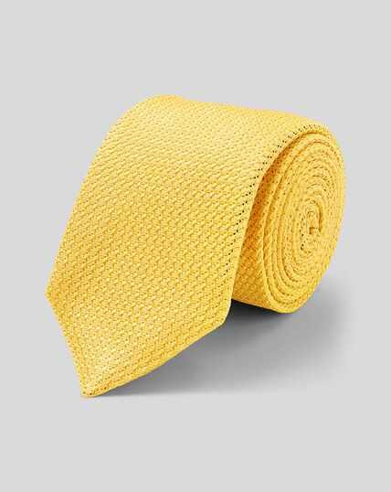 Silk Grenadine Italian Luxury Tie - Yellow