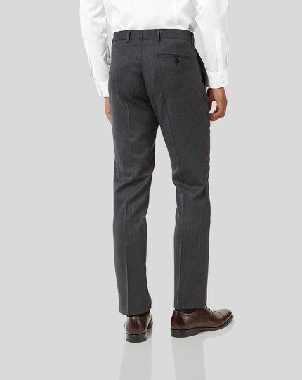 Stripe Birdseye Travel Suit - Grey