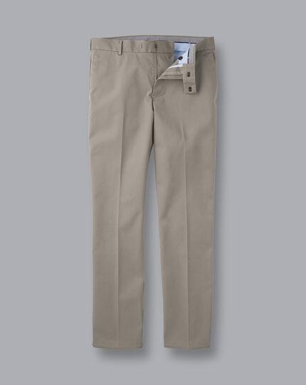 Smart Non-Iron Chinos - Light Grey