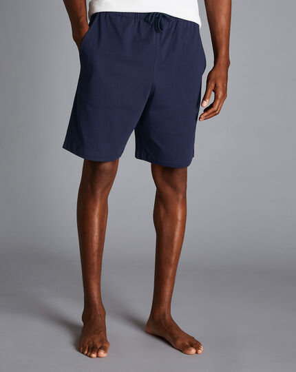 Cotton Jersey Shorts - French Blue