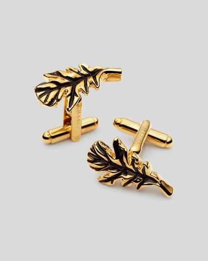 Oak Leaf Cufflinks - Gold