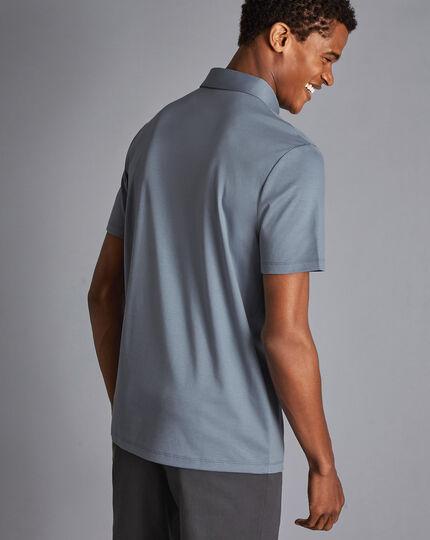 Smart Jersey Polo - Steel Blue