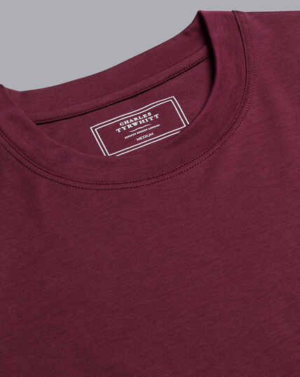 Cotton Tyrwhitt T-Shirt - Wine