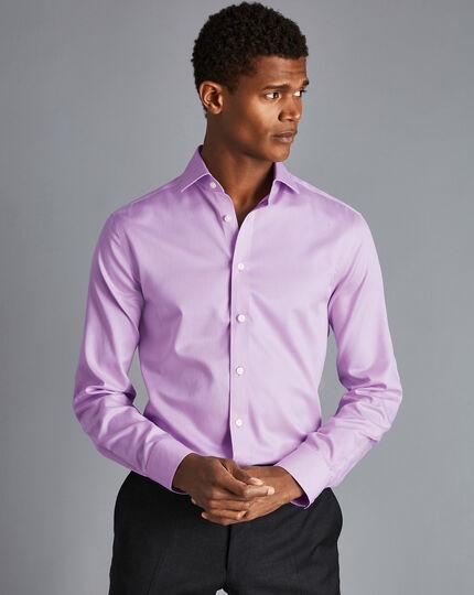 Cutaway Collar Non-Iron Puppytooth Shirt - Lilac