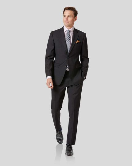Twill Business Suit - Charcoal