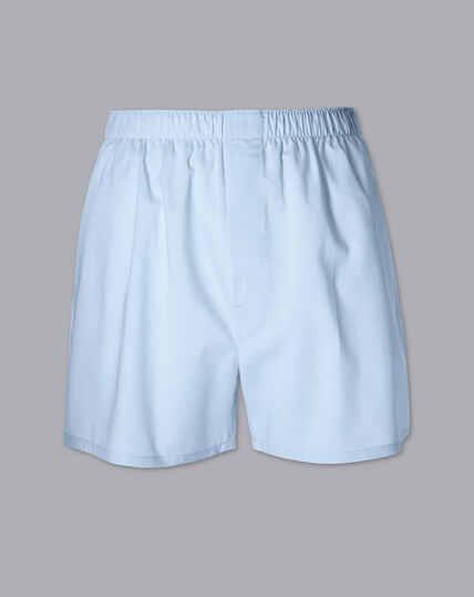 Woven Boxers - Light Blue
