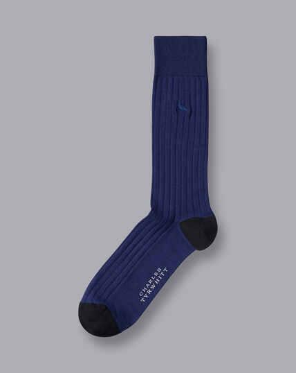 Cotton Rib Socks - French Blue