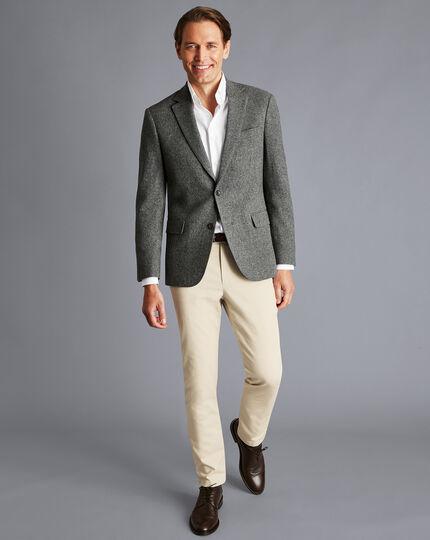Textured Wool Jacket - Taupe