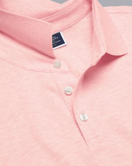 Tyrwhitt Pique Polo - Light Pink Marl