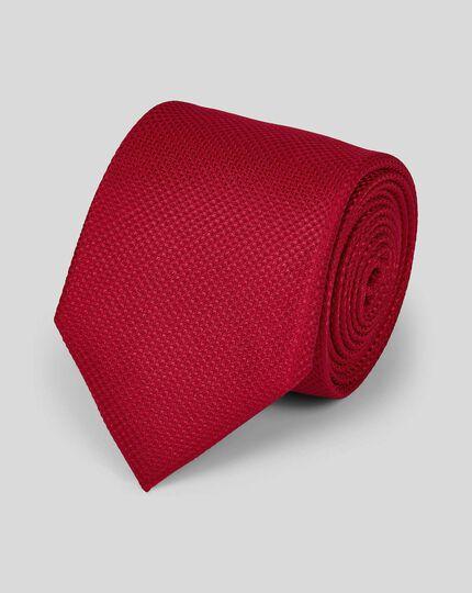 Stain Resistant Silk Textured Tie - Red