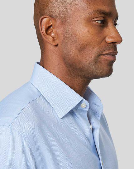 Non-Iron Herringbone Shirt - Sky