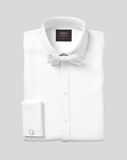 Cotton Marcella Self-Tie Bow Tie - White