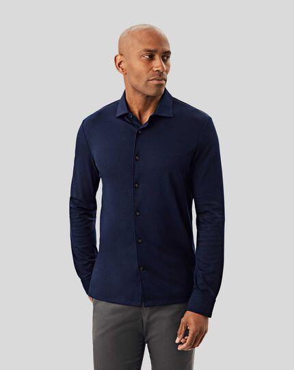 Long Sleeve Jersey Shirt - Navy