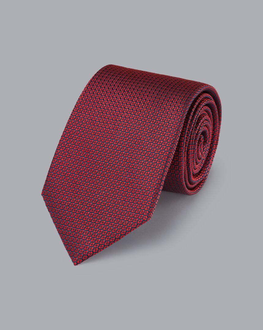 Silk Pattern Tie - Red
