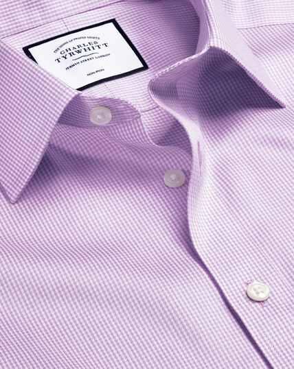 Non-Iron Puppytooth Shirt - Lilac