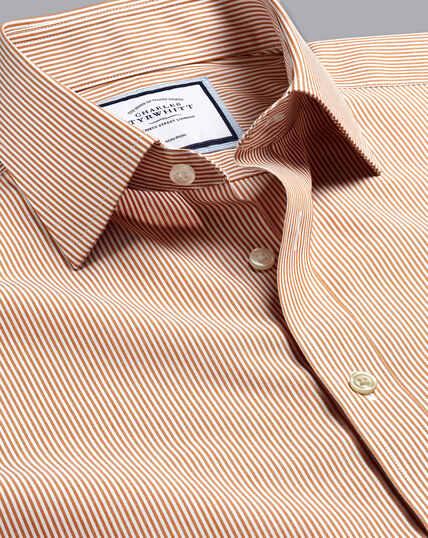 Non-Iron Bengal Stripe Shirt - Rust