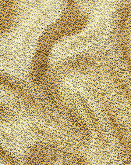Einstecktuch mit Hammerhai-Print - Gelb & Himmelblau