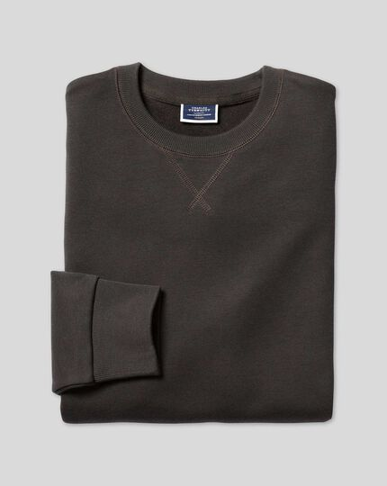 Jersey Crew Neck Sweater - Charcoal