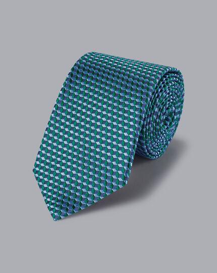 Geometric Cube Tie - Green