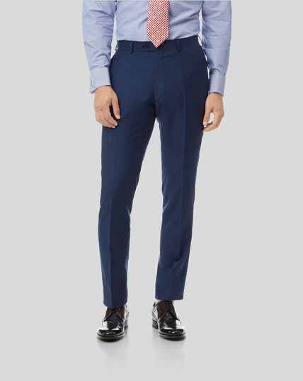 Herringbone Suit Trousers- Royal Blue