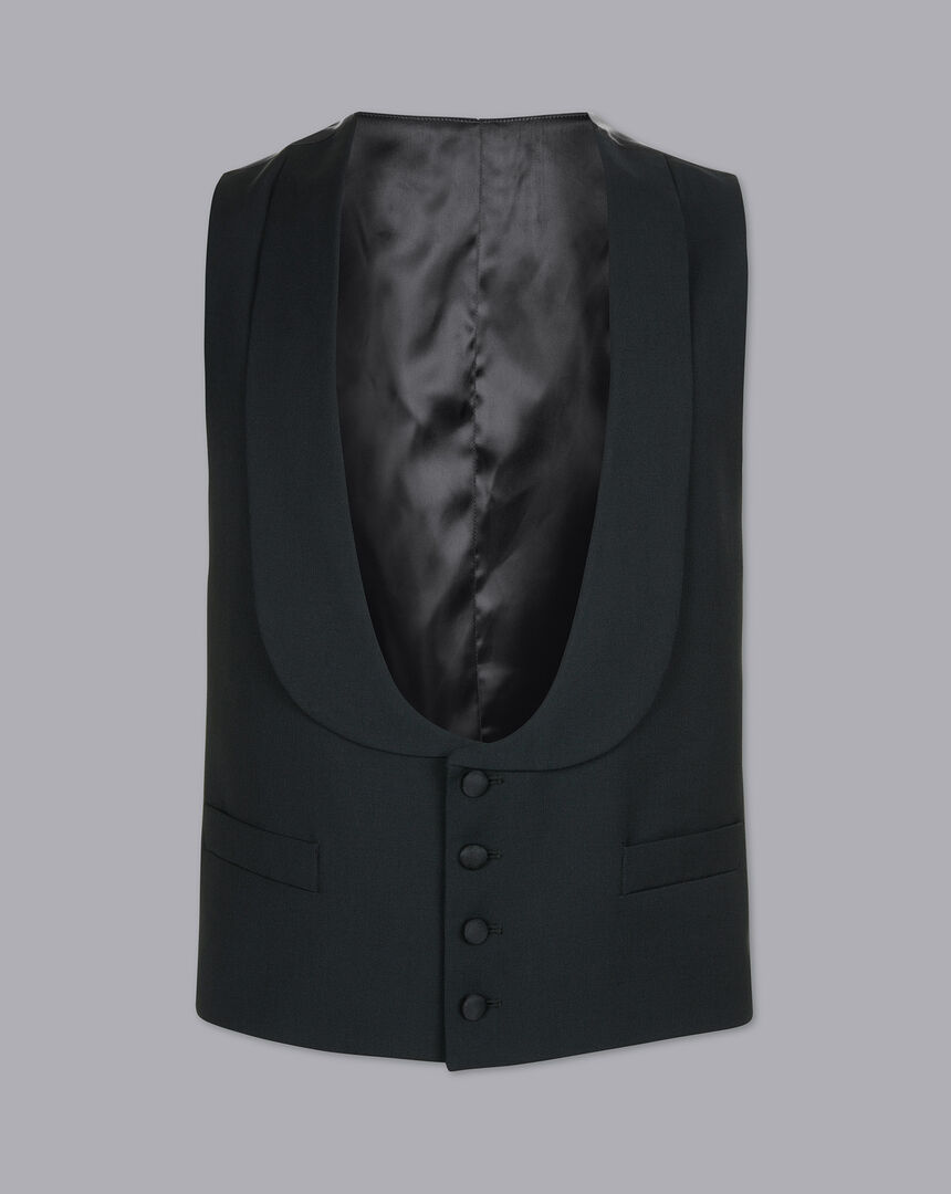 Shawl Collar Dinner Suit Vest - Black