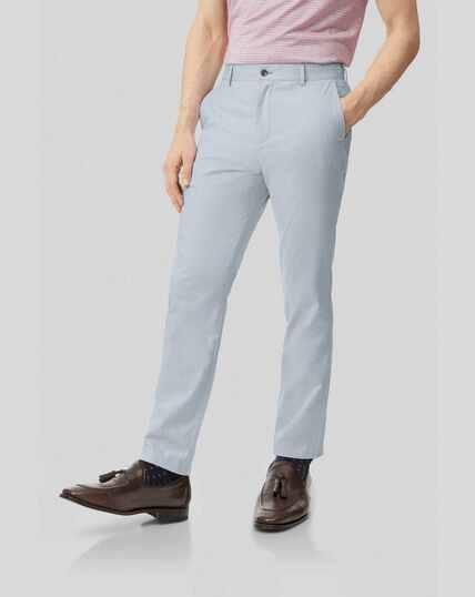 Fine Stripe Pants - Light Blue