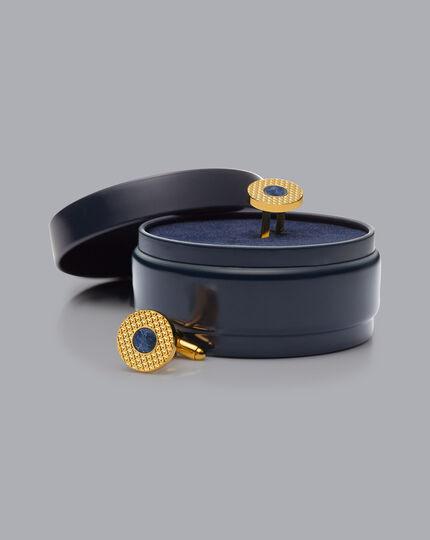 Sodalite Cufflinks - Gold
