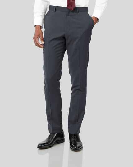 Business Suit Textured Pants - Steel Grey