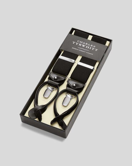 Combination Suspenders - Black