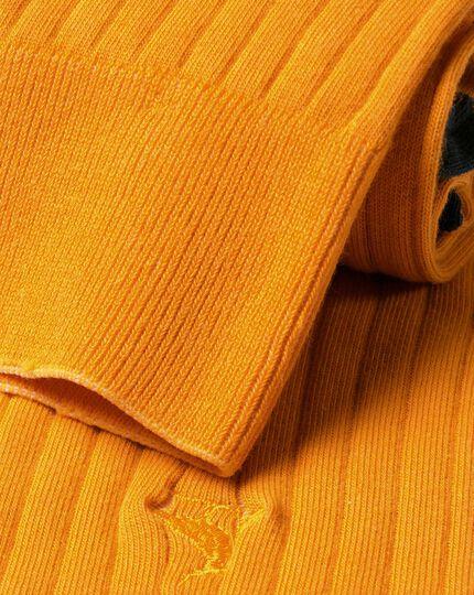 Cotton Rib Socks - Mustard