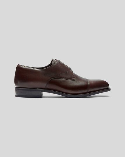 Goodyear Welted Derby Toe Cap Performance Shoes  - Chocolate Brown
