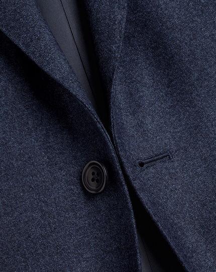 Italian Luxury Stretch Flannel Suit - Dark Blue